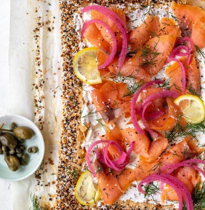 Tarta de salmón ahumado – Todo hojaldre de salmón ahumado