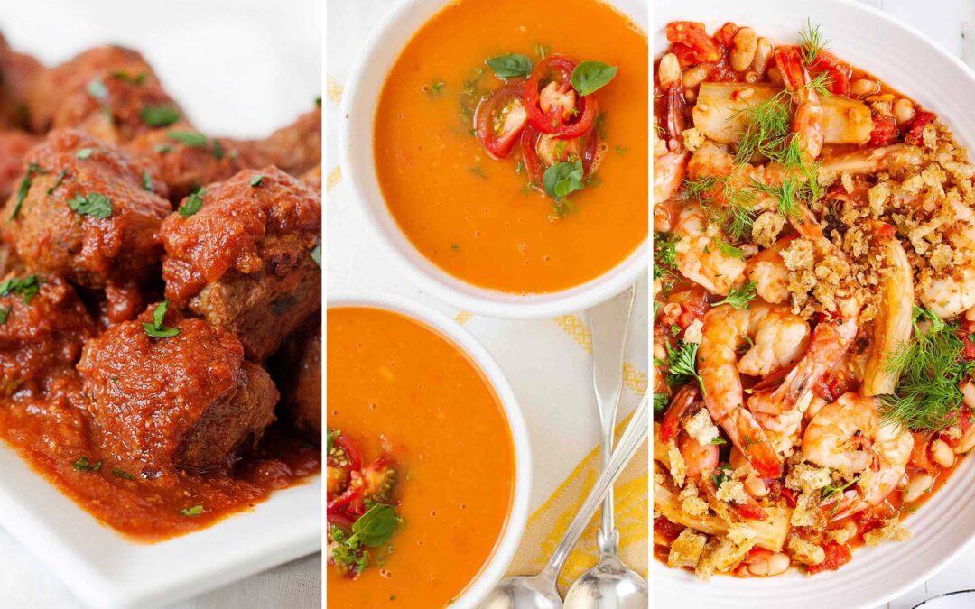 14 recetas que aprovechan al máximo los tomates enlatados
