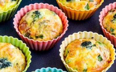 Muffins de huevo keto con brócoli, tocino y queso – Kalyn's Kitchen