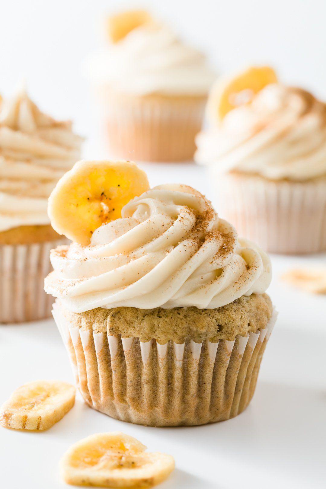 Cupcakes de plátano One Bowl | Proyecto de magdalenas