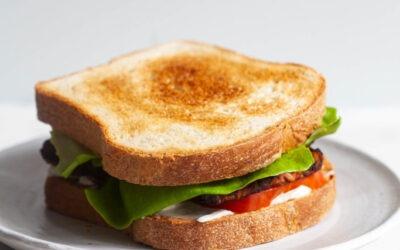 Pan de sándwich blanco vegano clásico