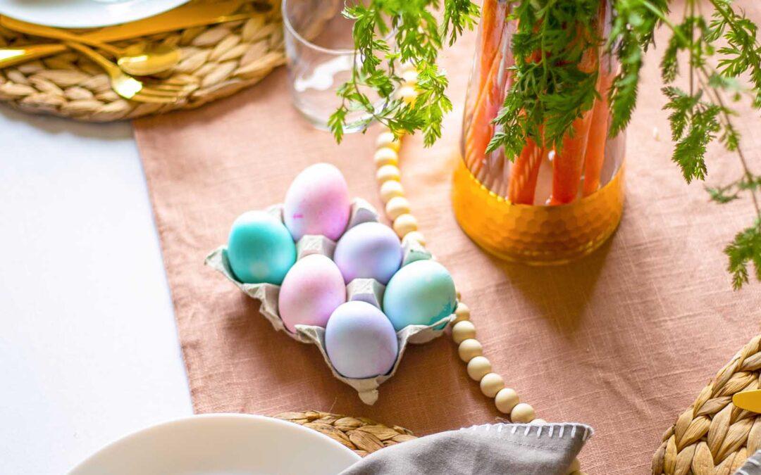 Cómo preparar una mesa de Pascua divertida y familiar