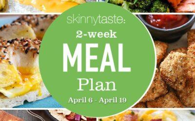 Plan de comidas saludables de 14 días (6-19 de abril)
