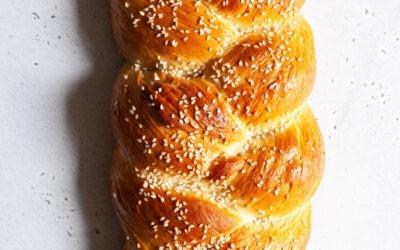 Vegan Tsoureki (pan de Pascua griego)