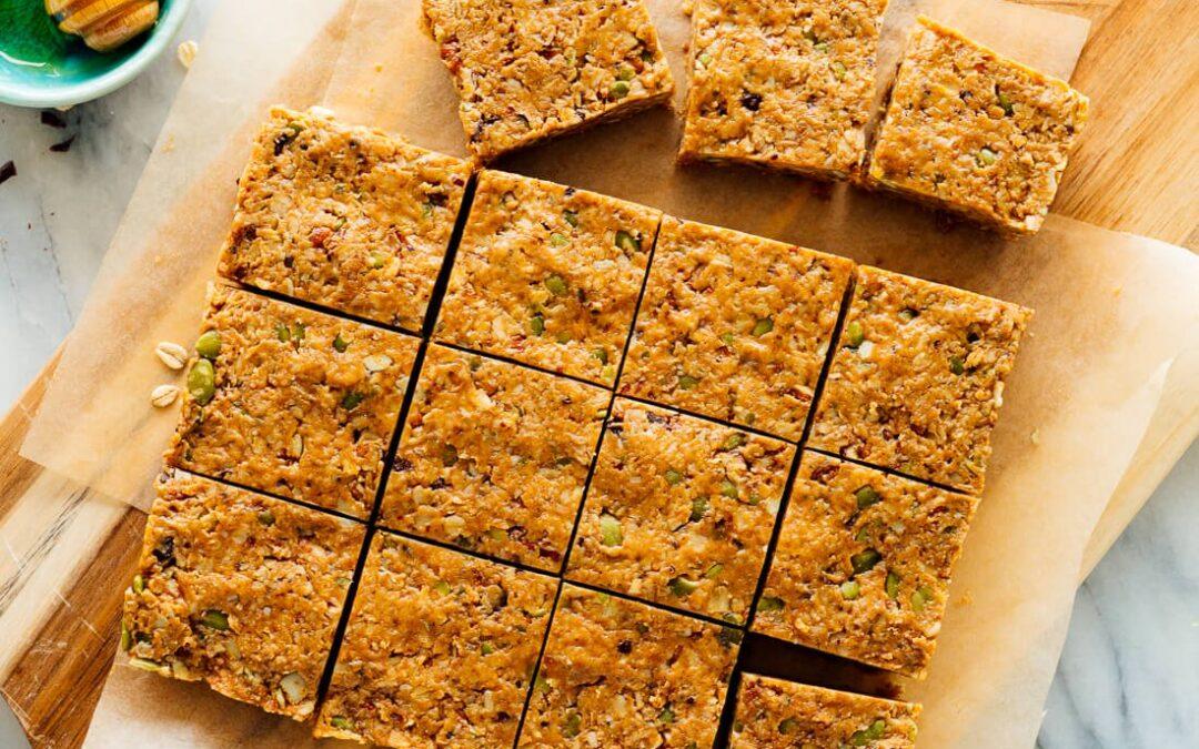 Receta fácil de barras de granola sin hornear