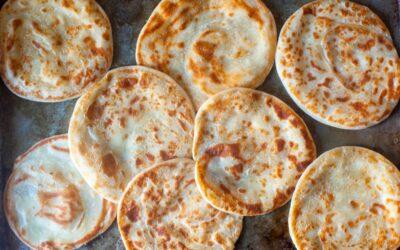 pan plano de yogur en capas – cocina herida