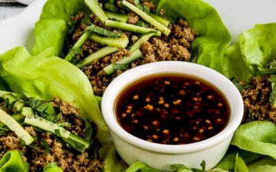 Wraps tailandeses de lechuga de pavo – Kalyn's Kitchen