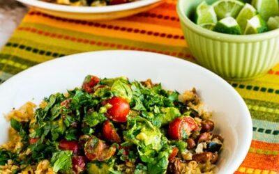 Cauliflower Rice and Pinto Bean Burrito Bowl – Kalyn's Kitchen