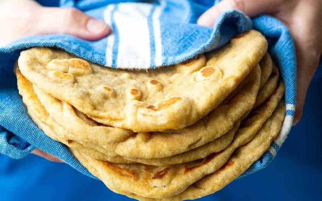 Pan plano suave y esponjoso (sin levadura)