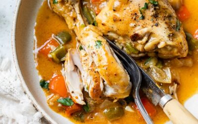 Estofado de pollo con pimentón – Skinnytaste