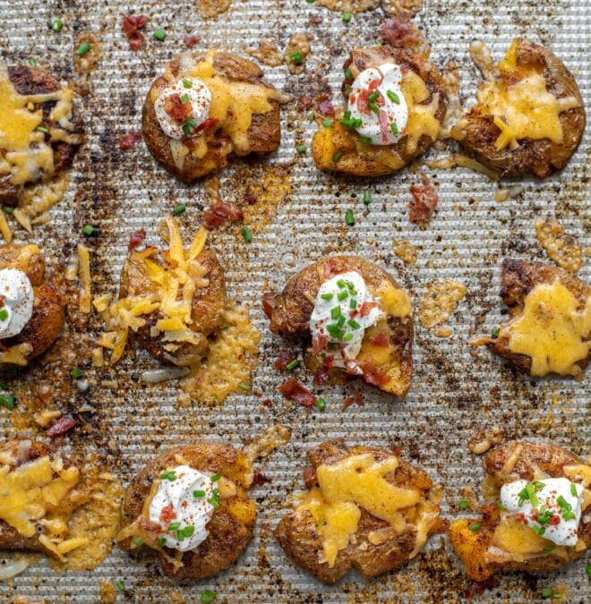 Chipotle Cheddar Smashed Potatoes – Papas Chipotle Cheddar