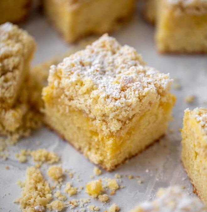 Receta de pastel de miga de limón – Cómo hacer pastel de miga de limón