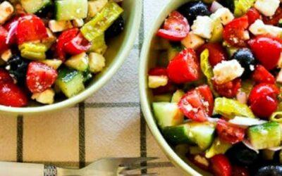 Ensalada griega picada picante con peperoncini – Kalyn's Kitchen