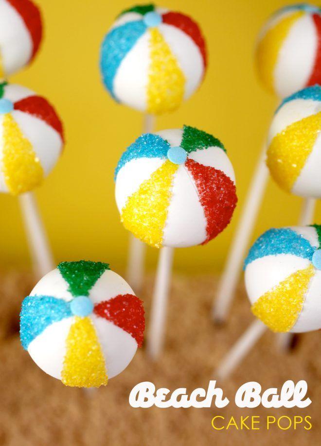Pastel de pelota de playa Pops | Bakerella – cake pops, cupcakes, galletas y más