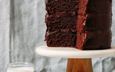 Pastel de chocolate vegano sin gluten de 1 tazón