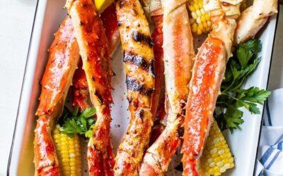 Patas de cangrejo a la parrilla (King, Dungeness y Snow Crab Legs)