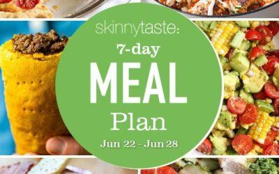 Plan de comidas saludables de 7 días (22-28 de junio)