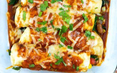 Enchiladas vegetarianas caseras fáciles
