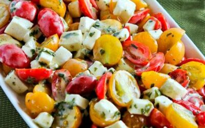 Ensalada Caprese de Tomate Cherry – Cocina de Kalyn