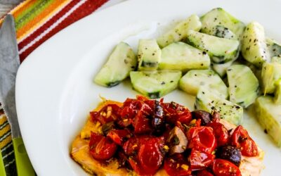 Paquetes de papel de salmón con tomates y aceitunas – Kalyn's Kitchen