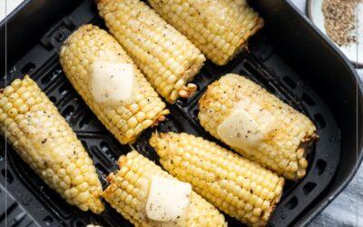 Receta de maíz en mazorca Air Fryer FÁCIL Y DELICIOSA