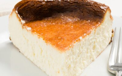 FÁCIL Pastel de queso vasco quemado