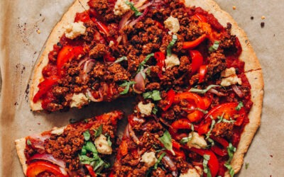Pizza de salchicha vegana sin gluten |  Recetas minimalistas de panadero