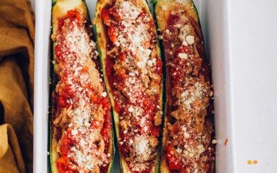 Easy Vegan Zucchini Boats |  Recetas minimalistas de panadero