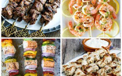 Brochetas o brochetas bajas en carbohidratos para la parrilla – Kalyn's Kitchen