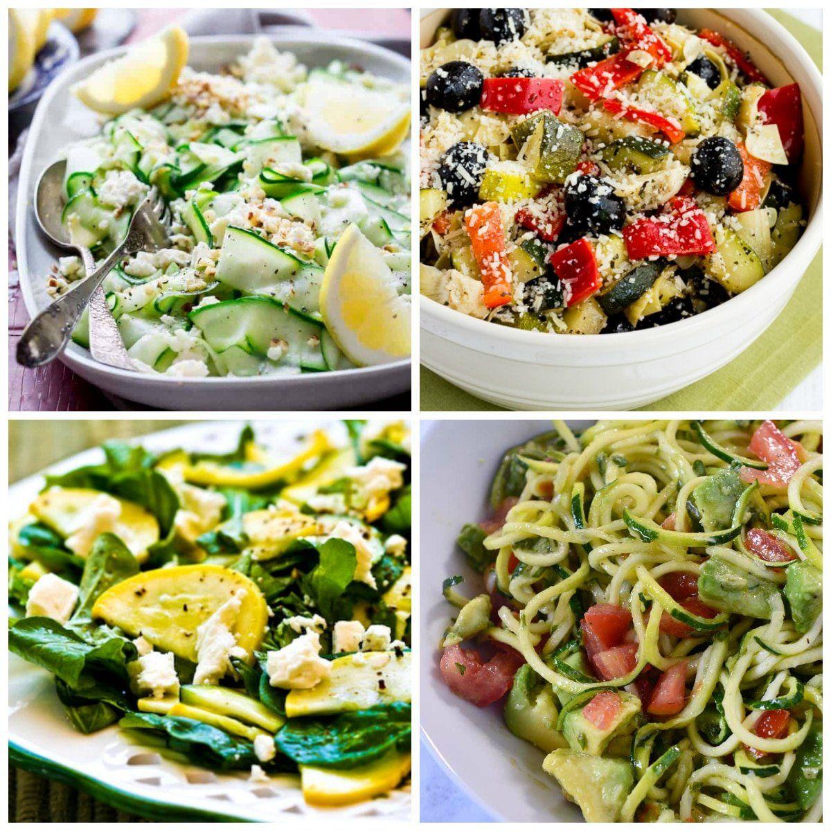 Ensaladas bajas en carbohidratos con calabacín – Kalyn's Kitchen