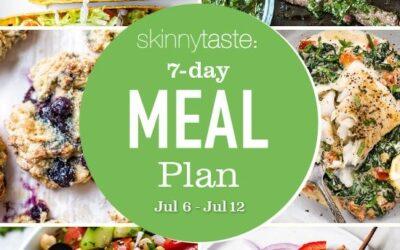 Plan de comidas saludables de 7 días (del 6 de julio al 12 de julio)