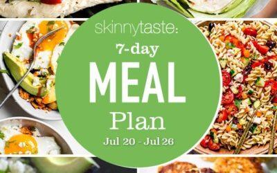 Plan de comidas saludables de 7 días (del 20 al 26 de julio)