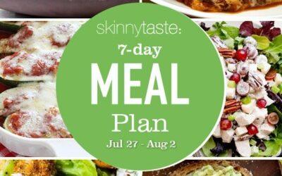 Plan de comidas saludables de 7 días (del 27 de julio al 2 de agosto)