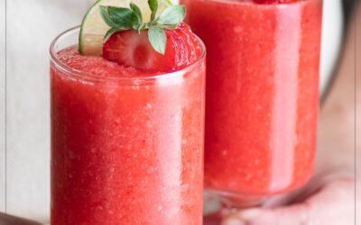 Receta de cóctel Daiquiri de fresa: ron, lima
