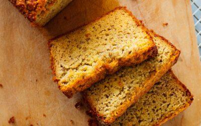 Receta de pan de plátano sin gluten (con harina de almendras)