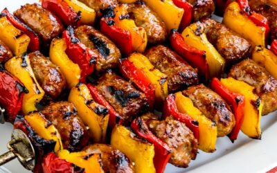 Salchichas y pimientos asados - Kalyn's Kitchen