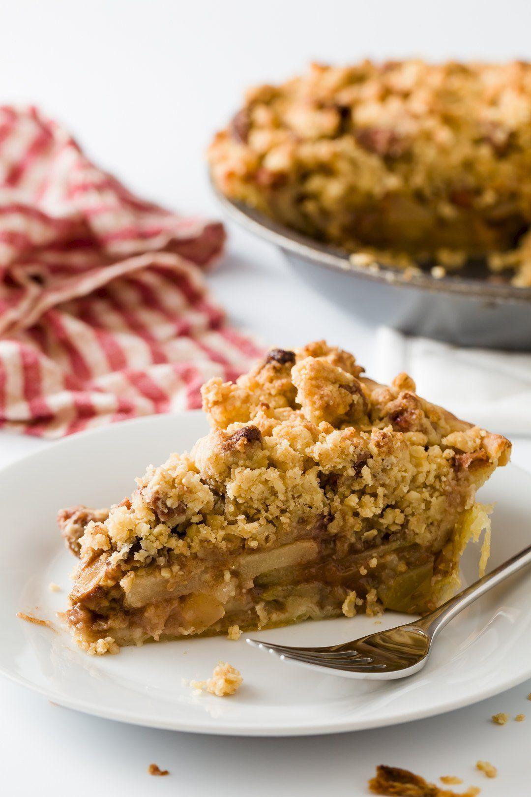 La mejor receta de tarta crumble de manzana