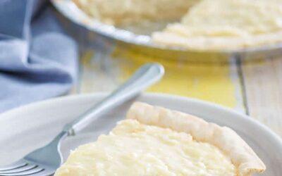 Pastel de crema de coco a la antigua y fácil
