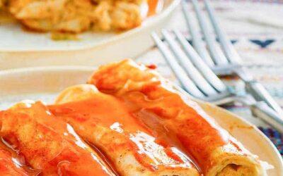 Enchiladas de Queso Crema y Pollo |  CopyKat Recipes