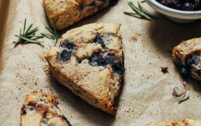 Scones de arándanos sin gluten |  Recetas minimalistas de panadero