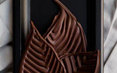 Hojas de chocolate en 30 segundos