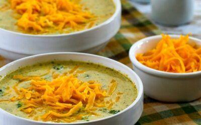 Sopa de brócoli y coliflor con queso (video) – Kalyn's Kitchen